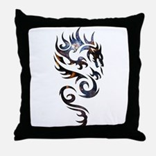 Tribal Dragon Throw Pillow