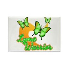 Lyme Warrior Butterflies Rectangle Magnet