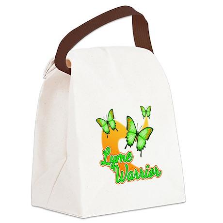 Lyme Warrior Butterflies Canvas Lunch Bag