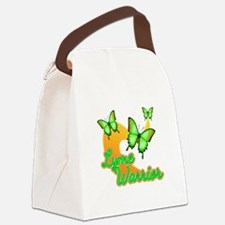 Lyme Warrior Butterflies Canvas Lunch Bag