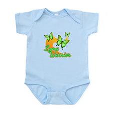 Lyme Warrior Butterflies Infant Bodysuit