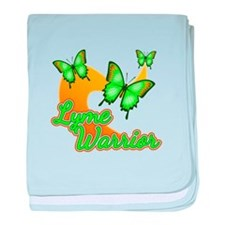 Lyme Warrior Butterflies baby blanket