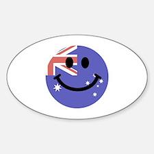 Australian flag smiley face Decal
