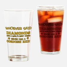 Cornish Rex cat mommy designs Drinking Glass