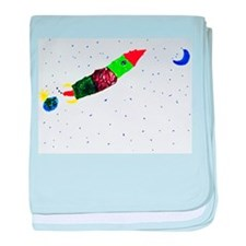 Rocketing to the Moon baby blanket