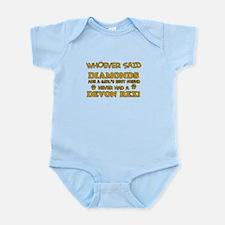 Devon Rex cat mommy designs Infant Bodysuit