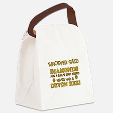 Devon Rex cat mommy designs Canvas Lunch Bag