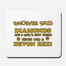 Devon Rex cat mommy designs Mousepad