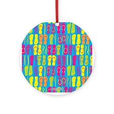 Flip Flops Bright Ornament (Round)
