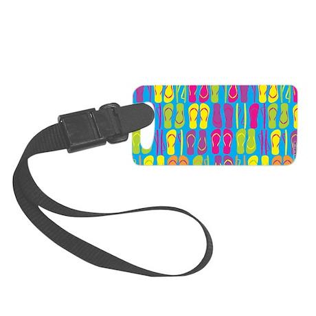 Flip Flops Sand Bright Luggage Tag