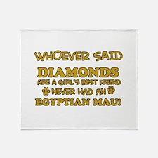 Egyptian Mau cat mommy designs Throw Blanket