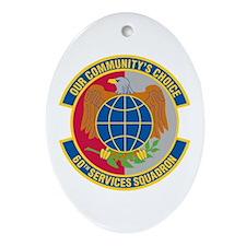 60th Services Squadron Oval Ornament