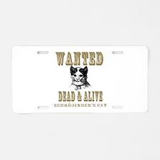 Schrodingers Cat Aluminum License Plate