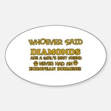 European Burmese cat mommy designs Decal