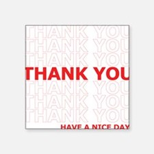 Thank You Have a Nice Day Plastic Bag Text Sticker