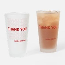 Thank You Have a Nice Day Plastic Bag Text Drinkin