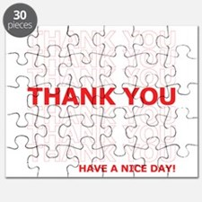 Thank You Have a Nice Day Plastic Bag Text Puzzle