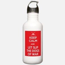 Keep Calm and Let Slip Dogs Water Bottle