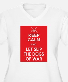 Keep Calm and Let Slip Dogs Plus Size T-Shirt