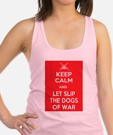 Keep Calm and Let Slip Dogs Racerback Tank Top