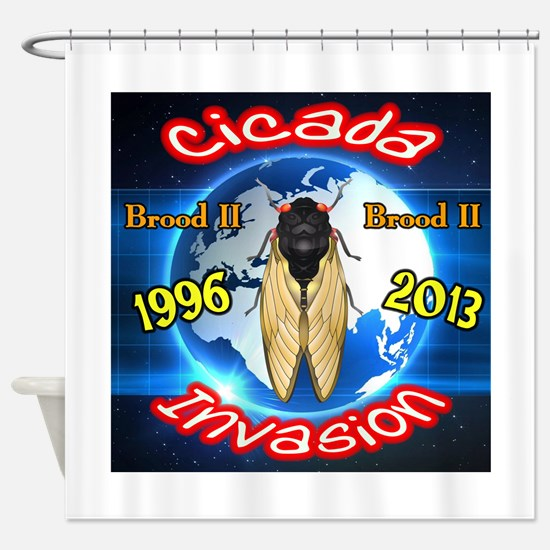 Cicada Invasion 2013 Blue Shower Curtain