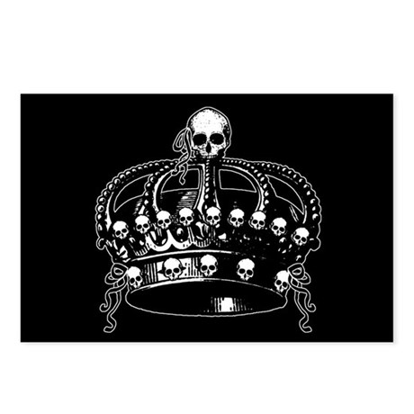 Gothic Skull Crown Postcards (Package of 8)
