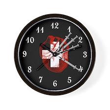 Medical Needle Stabbed Heart Wall Clock