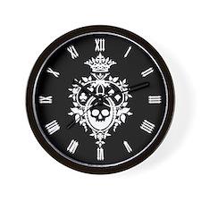 Gothic Skull Crest Wall Clock