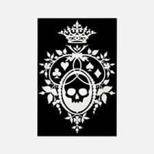 Gothic Skull Crest Rectangle Magnet