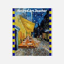 Retired art teacher VG Throw Blanket