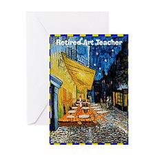 Retired art teacher VG Greeting Card