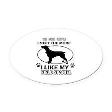 Field Spaniel doggy designs Oval Car Magnet