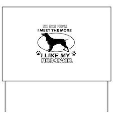 Field Spaniel doggy designs Yard Sign