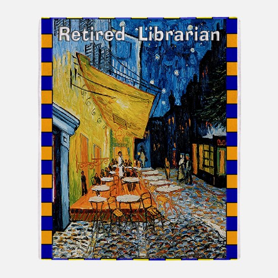 retired librarian VG Throw Blanket