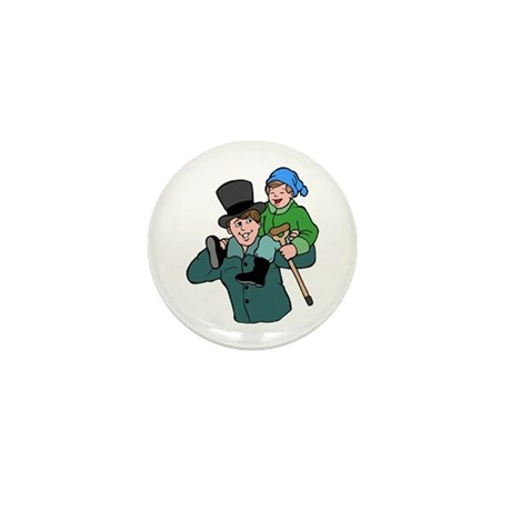 Tiny Tim & Bob Cratchit Mini Button (100 pack)