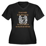 Affairs of Cats Women's Plus Size V-Neck Dark T-Sh