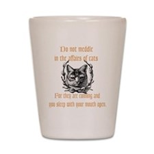 Affairs of Cats Shot Glass