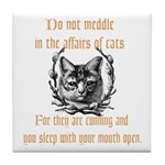 Affairs of Cats Tile Coaster