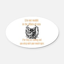 Affairs of Cats Oval Car Magnet