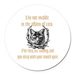 Affairs of Cats Round Car Magnet