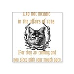 Affairs of Cats Square Sticker 3