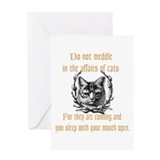 Affairs of Cats Greeting Card