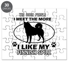 Finnish Spitz doggy designs Puzzle