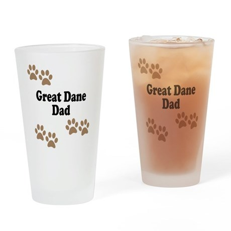 Great Dane Dad Drinking Glass