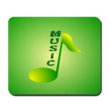 Music Note Text Mousepad