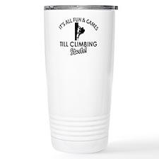 Unique Climbing designs Travel Mug