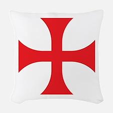Knights Templar Woven Throw Pillow