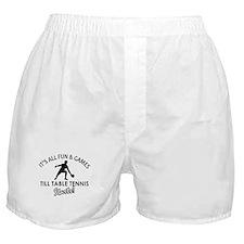 Unique Table Tennis designs Boxer Shorts