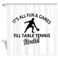 Unique Table Tennis designs Shower Curtain