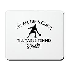 Unique Table Tennis designs Mousepad